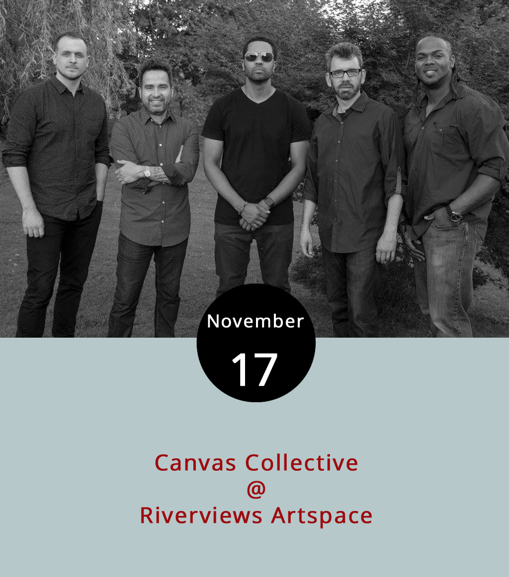 What better name for a band playing in an art gallery than Canvas Collective? The group of Central Virginia professional musicians comes together from time to time to collaborate and, as they put it, conversate through harmony and dissonance. Tonight, at the Rosel H. Schewel Theatre, they'll bring a  style that moves around the jazz genre and includes influences from hip hop, R&B, rock and funk. For more information about the band and its members, visit their  website . Tickets are $10 at the door, which opens at 7 p.m. for the 7:30 p.m. show. A cash bar will be available. For more information, click  here  or call (434) 847-7277.