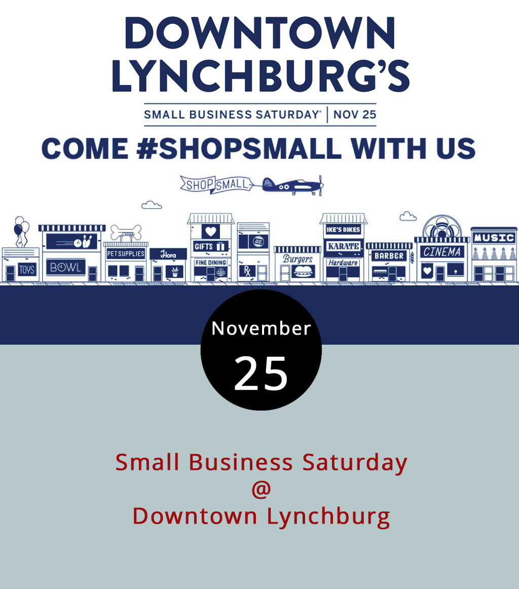 As the Christmas season begins in earnest, we at LynchburgDoes want to remind our readers that Lynchburg Does shopping, a fact the Hill City will highlight today on Small Business Saturday. Small Business Saturday is a day to remember that when we spend money where we live, it feeds the local economy and come back to us one way or another. A perfect example of that mentality: The Conscious Mercantile (1924 Main St.), Live Trendy or Die (1101 Church St.) and Windblown Apothecary (1103 Church St.) are donating 10 percent of all sales today to Miriam's House, a Lynchburg-area nonprofit that provides transitional services to homeless women, according to the event Facebook  page . For a list of participating organizations and their specials, offers or events, which includes a shortbread ornament class for $5 at Mrs. Joy's Absolutely Fabulous Treats, click  here .