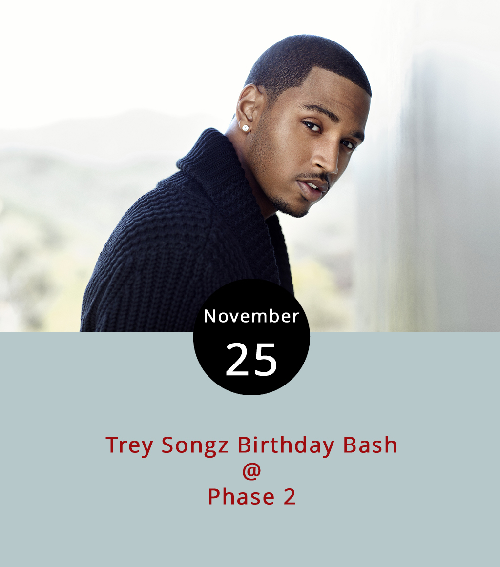 Trey Songz comes to Lynchburg tonight in support of his most recent release,   Tremaine The Album  , branded with the R&B singer's given name. Trey Songz, who graced the top 40 on Billboard as main artist or collaborator on nine songs between 2005 and 2015, released his most recent album in March. He'll perform tonight at Phase 2 (4009 Murray Pl.) at a two d.j- show that serves as his official birthday party as he turns 33 a few days later. Doors open at 10 p.m. and the show ends at 2 a.m. General admission tickets are $50 and can be purchased  here . For more information, click  here  or call (434) 846-3206.