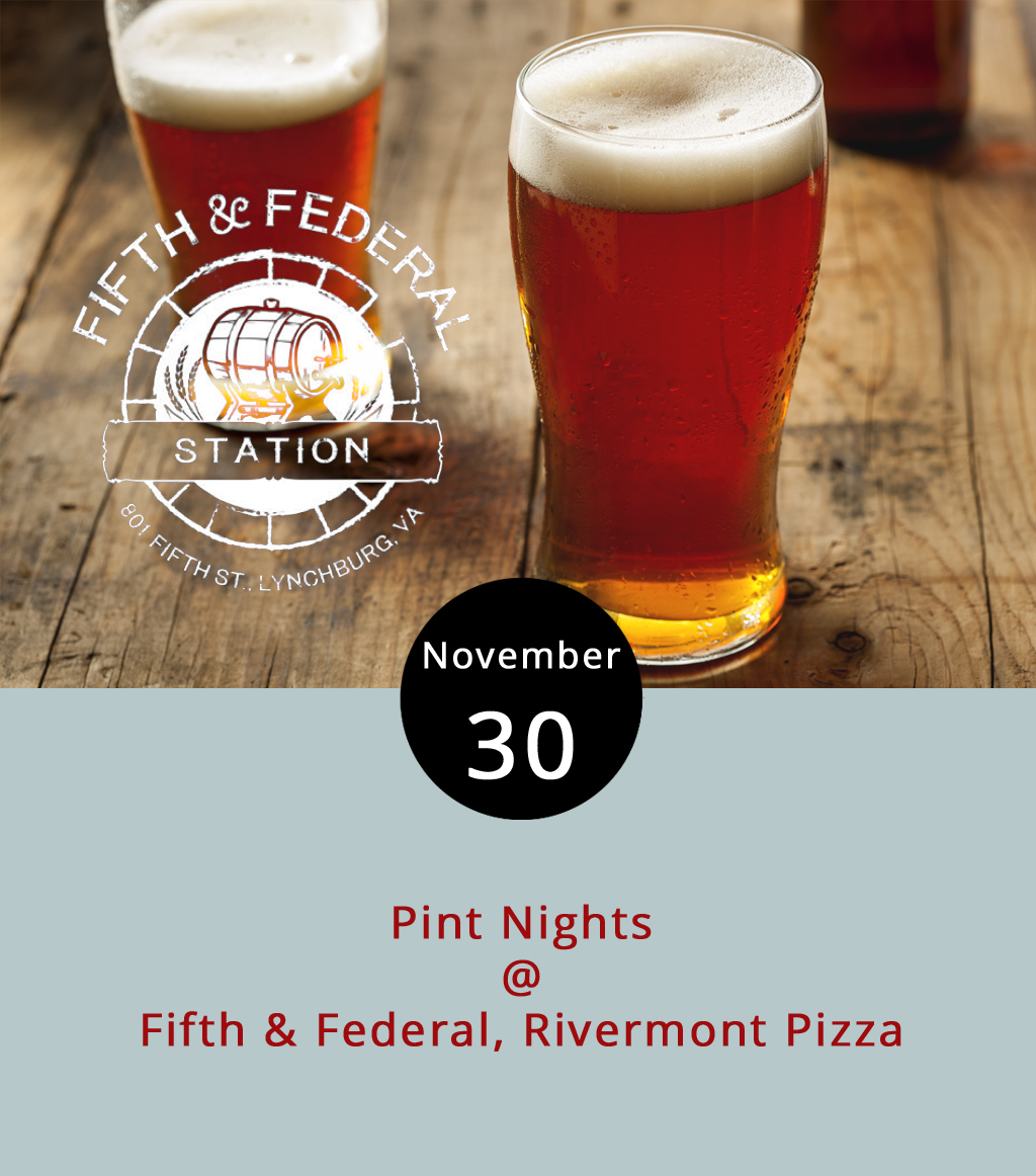 This week's pint night collection features a couple of winter libations concocted and named for cold weather. At Fifth & Federal Station (801 5th St.) from 8-11 p.m., they'll feature Baltimore's Heavy Seas Beer, including the limited release  Winter Storm , a 7.5% abv imperial extra special bitter. Fifth & Federal will also have their weekly open mic going on at the same time. For more information, including the full tap takeover list, click  here  or call (434) 386-8113. Rivermont Pizza (2496 Rivermont Ave.) will host a release party for Bold Rock Cidery's  Orchard Frost , a daring name considering what a late frost can do to a budding fruit crop. RP's pint nights go from about 6 p.m.-1:30 a.m. For more information, call  RP  at (434) 846-2877.