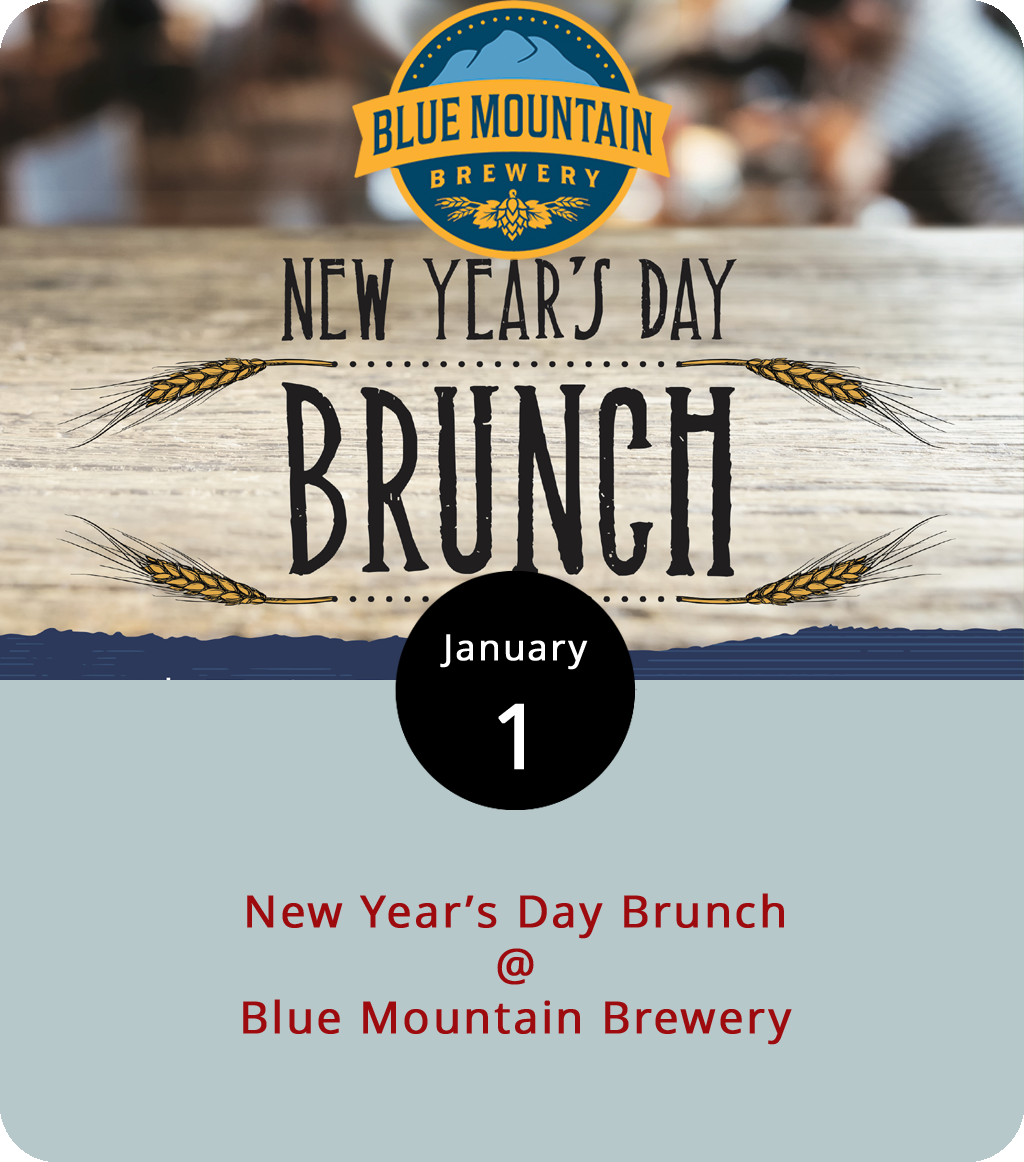 Brunching on a Monday is just a good way to get the new year off to a robust start, and Blue Mountain Brewery (9519 Critzers Shop Rd.) in Afton is facilitating today with a special New Year's Day Brunch from 9 a.m. to 1 p.m. It's buffet-style, with an omelette station, biscuits and gravy, chicken and waffles, french toast, and more for $21.99. And, of course, Blue Mountain's selection of craft-brewed lagers, porters, IPAs, and stouts will be on tap. Add a flight of brews to the brunch meal and it'll cost just $27.99. For reservations, call (540) 856-8020. For more information, click  here .