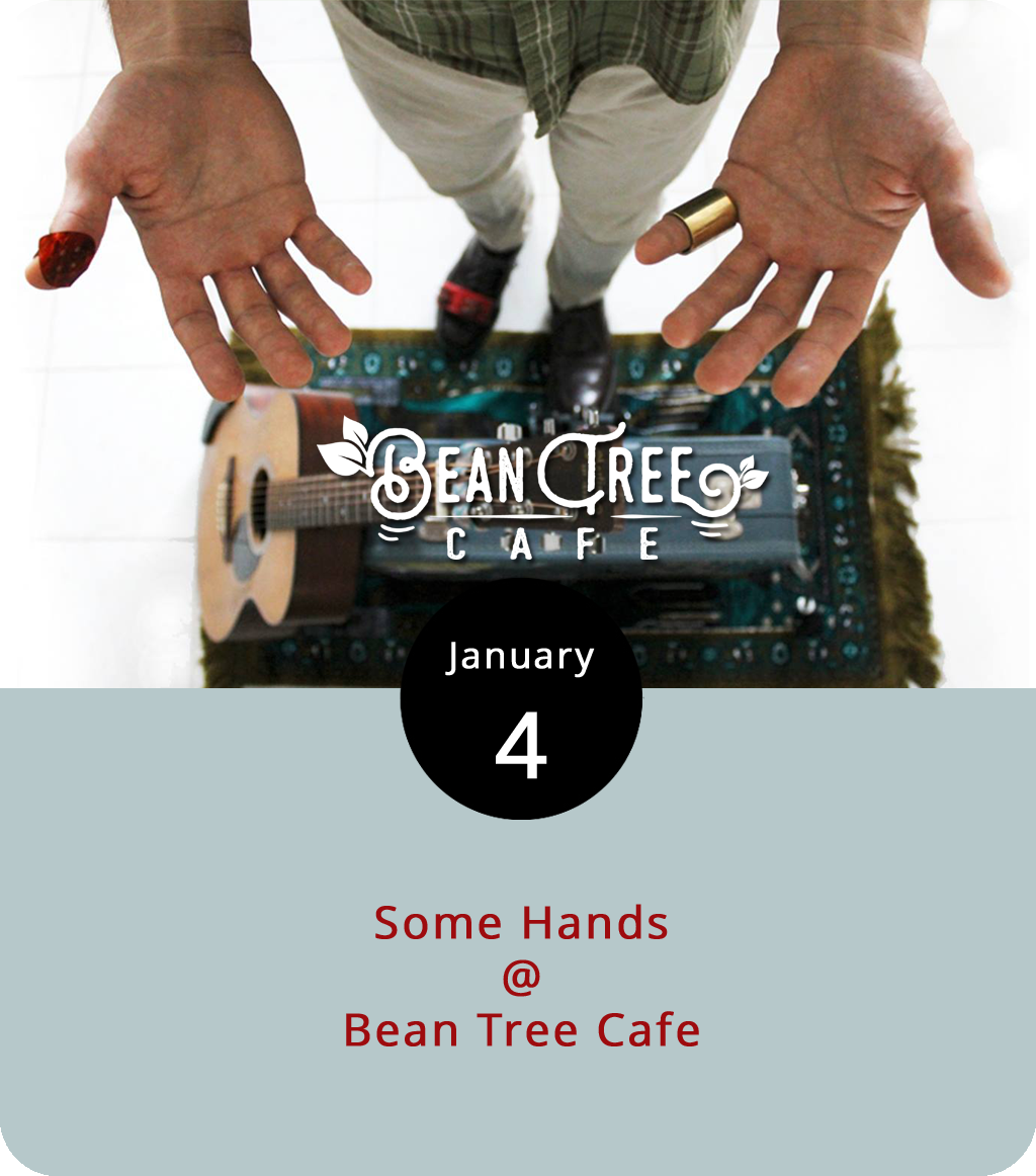 Some hands wash dishes. Some hands build bridges. But the musical entity known as  Some Hands  is mainly one guy – Kevin Bock – from Pennsylvania who uses his hands to pick and strum Delta-style blues on an acoustic guitar. Bock is making his way to Lynchburg en route to North Carolina for a couple of early January dates. He stops in at the Bean Tree Café (105 Cornerstone St., #106) this evening to perform from 7-9 p.m. For more info, click  here  or call (434) 534-3210.