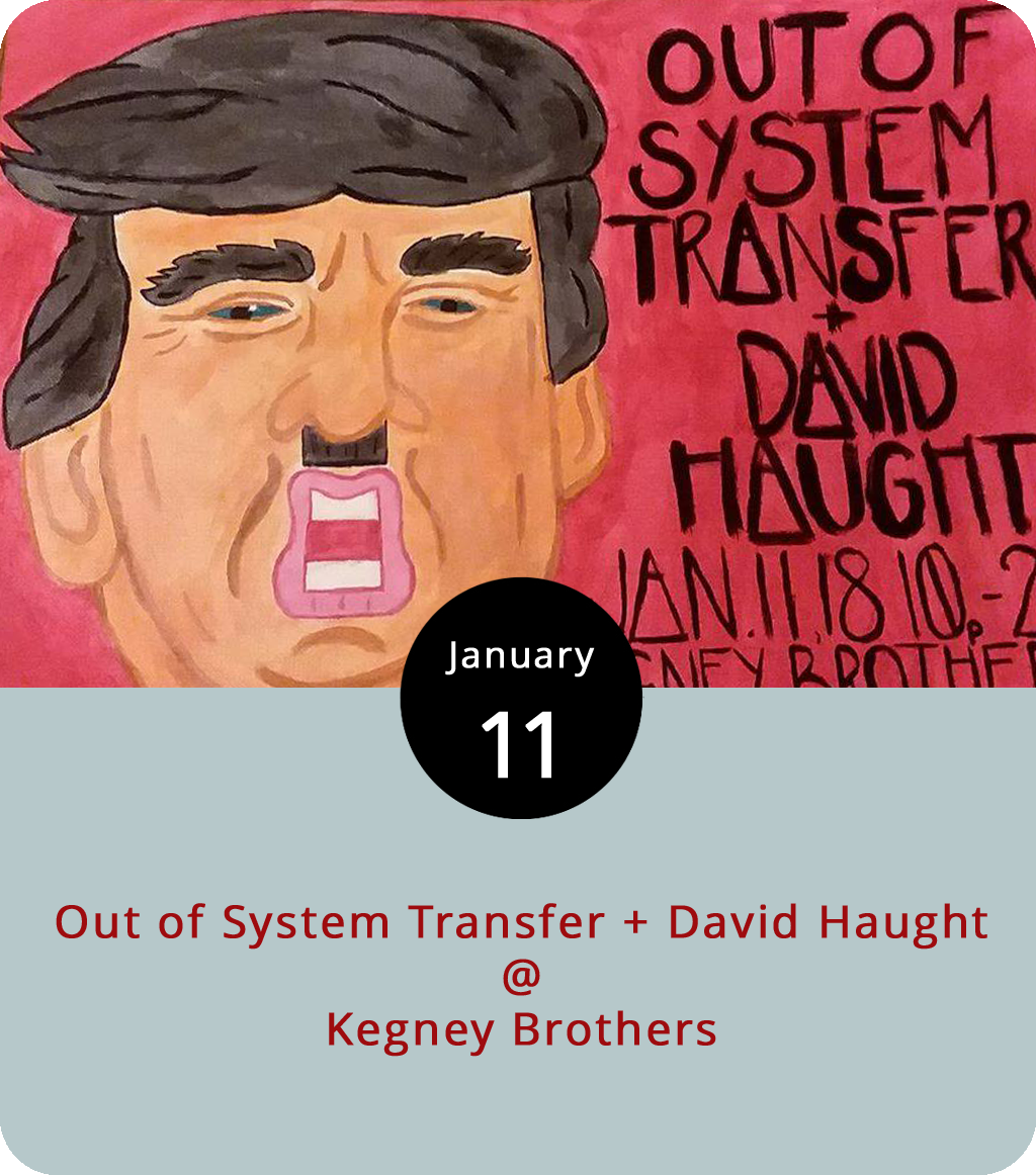 """It's a Brooklyn invasion of sorts at Kegney Brothers (1118 Main St.) tonight as Appomattox expat David Haught returns to his old stomping ground with Out of System Transfer, a foursome of fellow Brooklynites who are on a ten-date tour of the Southern States. Haught is a known quantity in these parts: he's a cowboy-hat-wearing Americana singer-songwriter who's got the chops and the style to tackle the Hank Williams songbook, which he'll be doing at next month's  Sonnets & Chocolates fundraiser for Endstation Theater. Out of System Transfer deploy guitar, bajolele, ukulele, and trombone in what they call """"gonzo anti-folk punk-rock"""" with a distinctively leftist slant. Should be interesting. The show starts at 10 p.m. and goes until just before closing at 2 a.m. There's no cover. Click  here or call (434) 616-6691 for more info."""