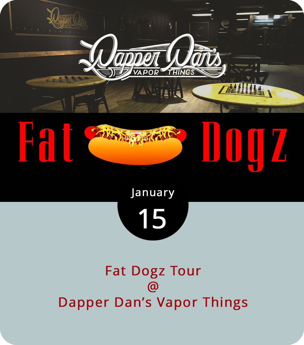We haven't seen a hot dog go on tour before, but then again, we haven't seen franks dressed up like nachos either. Both will be on the menu today as the Fat Dogz food truck pulls into Lynchburg on a winter tour of Virginia and sets up shop at Dapper Dan's Vapor Things (6109 Fort Ave.) from noon to 6 p.m. Fat Dogz highlights the oft-overlooked hotdog, annointing their beefy dogs with chili, cheese, slaw, and other tempting toppings. This month's special is a fat frank loaded with nachos, cheese, jalapenos, and sour cream for $4. That's right, a nacho-dog. For more information and updates, click  here .