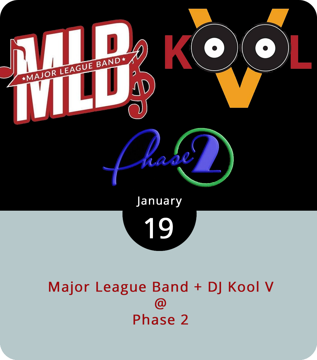 """It's not often that a hip hop-centric cover band visits the Hill City, but tonight Phase 2 (4009 Murray Pl.) will host the  Unstoppable Major League Band . Doors open at 9 p.m. for the Fredericksburg group, whose stylings center around gogo, hip-hop, and r&b. They'll perform along with Lynchburg's own  DJ KoolV , who spins a mix of old school hip-hop, reggae, and funk. According to  WSET , the party will commemorate Lynchburg barber Cedric """"Ced"""" Mays, who died in November. It's worth noting that along with a $15 cover, they've got a dress code of """"Fly and Flashy,"""" which means more specifically that men must wear a collared shirt. For more information, click  here or call (434) 846-3206."""