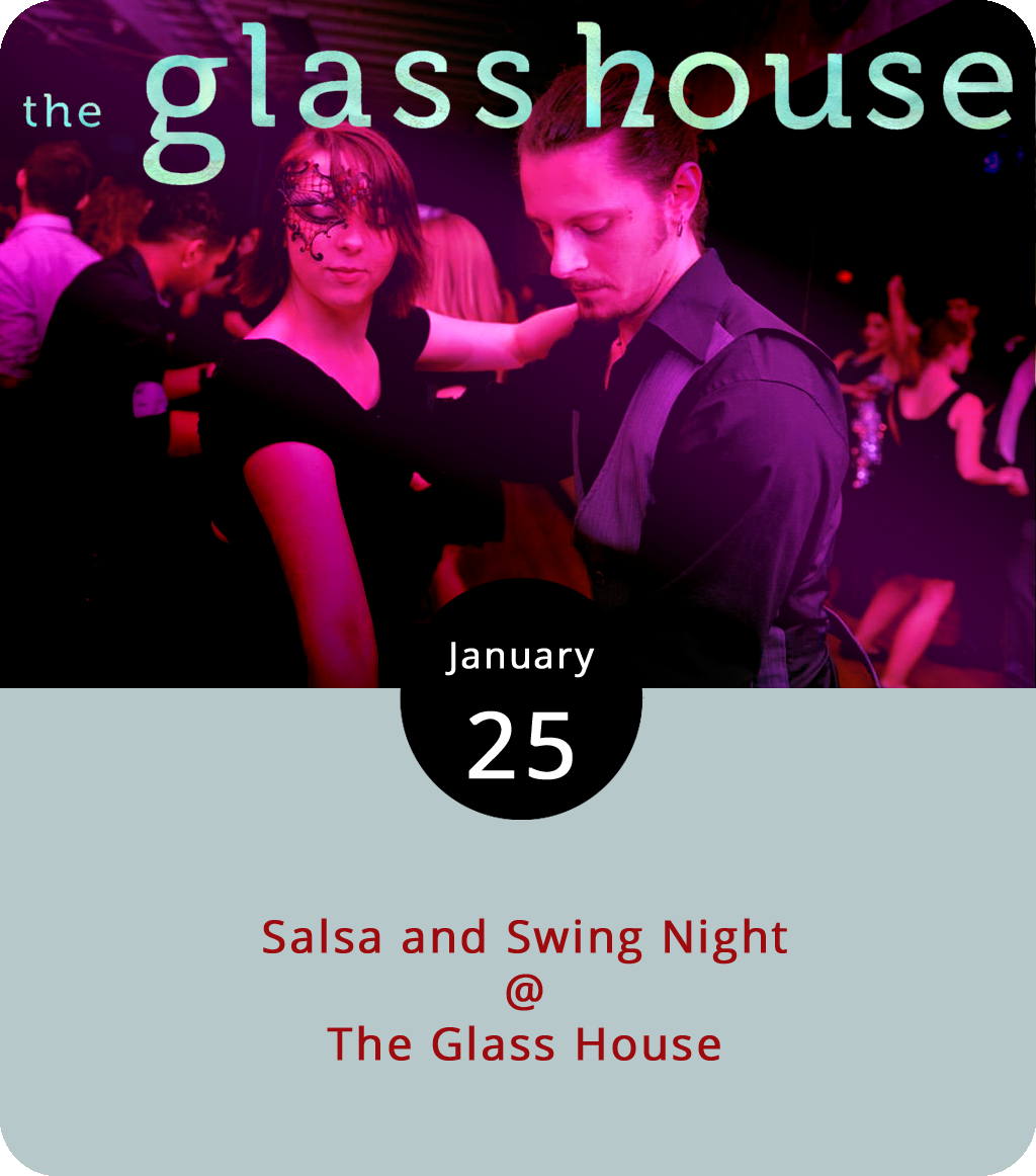 The folks from Lynchburg Salsa are ringing in the New Year a bit late in the month with their first salsa/swing night of 2018 this evening. The organization hosts Thursday salsa nights with lessons and open dancing at the Glass House (1019 Jefferson St.) on a fairly regular basis. Tonight they're upping the ante by bringing Hill City Swing experts into the venue for some West Coast Swing lessons starting at 7 p.m. After that, it's salsa dancing at 8 and social dancing from 9 to11 p.m. There's a cash-only $10 cover. No partner is required. Alcohol is prohibited. Flip flops are discouraged. For more information, click  here or email  lynchburgsalsa@gmail.com .