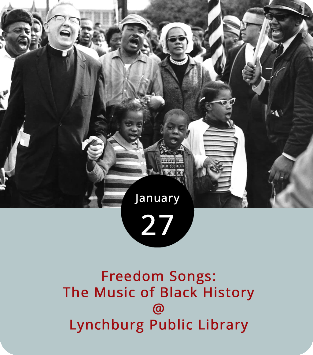 """Long before Bob Marley's redemption songs, there were all sorts of songs of freedom that made their way into the Afro-American musical canon and worked their way into the gospel, blues, and jazz traditions that are part of this country's proud cultural heritage. That's the narrative that Bright Star Touring Theatre address in  Freedom Songs: the Music of Black History , a musical history tour that features field songs such as """"Hoe Emma Hoe"""" and Underground Railroad-era songs like """"Follow the Drinking Gourd."""" The show also highlights Beale Street blues, Civil Rights anthems, and more. The Bright Star troupe comes to Lynchburg Public Library (2315 Memorial Ave.) to perform  Freedom Songs today from 1:30 to 2:15 p.m. For more information, click  here or call (434) 455-6300."""