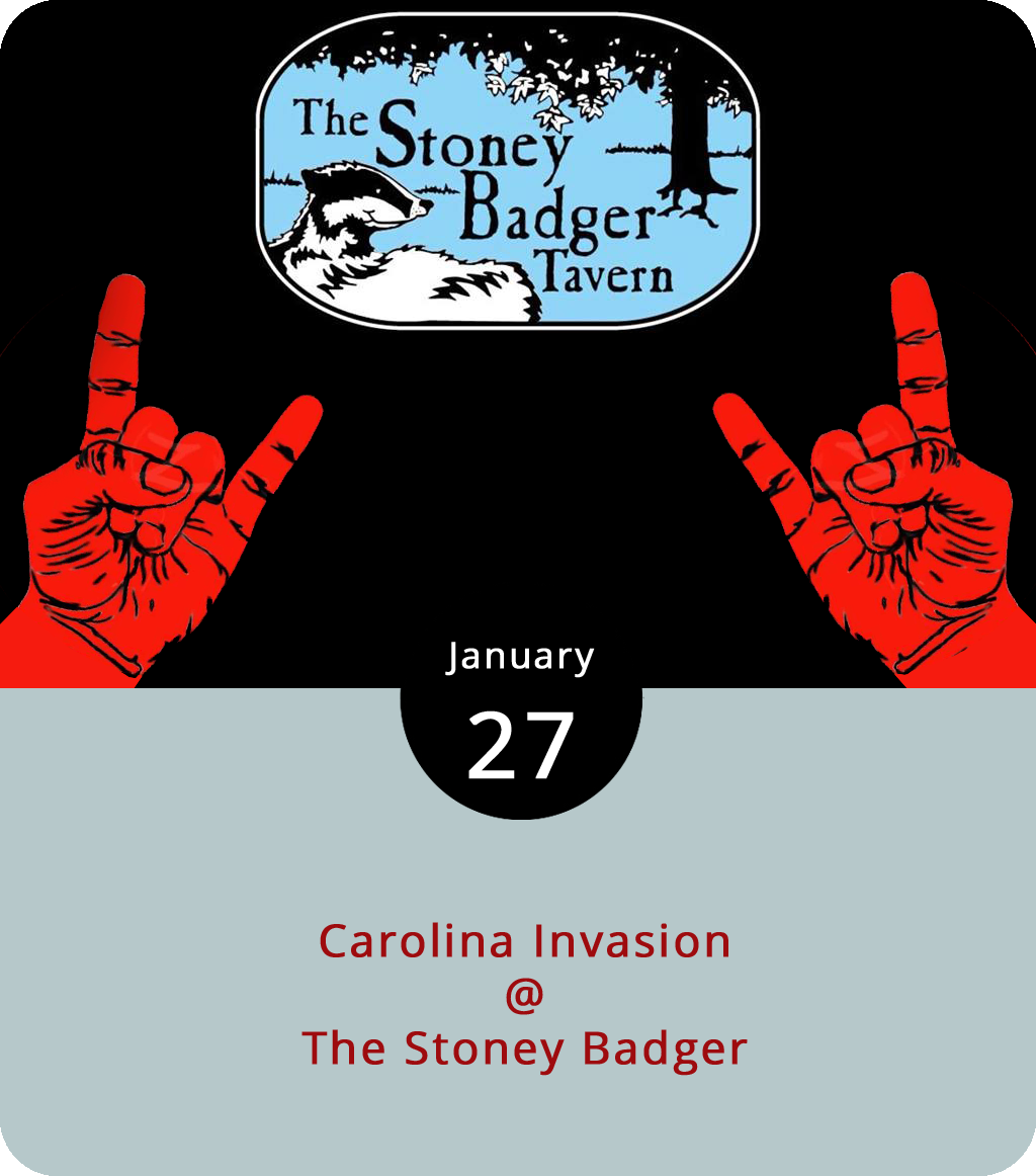 There should be some heavy sounds emanating from the Stony Badger (3009 Old Forest Rd.) this evening, as a contingent of metalheads form North Carolina make their way to the stage. The show is presented by the  Georgia Metal Alliance Virginia Chapter , and it features the Charlotte metalcore band  Annabel Lee , Greensboro's  Divine Treachery , and Charlotte's  Blackwater Drowning . It's a 21-plus show with $7 cover. The rock starts at 8:30 p.m. Click  here for more info, or call (434) 384-3004.