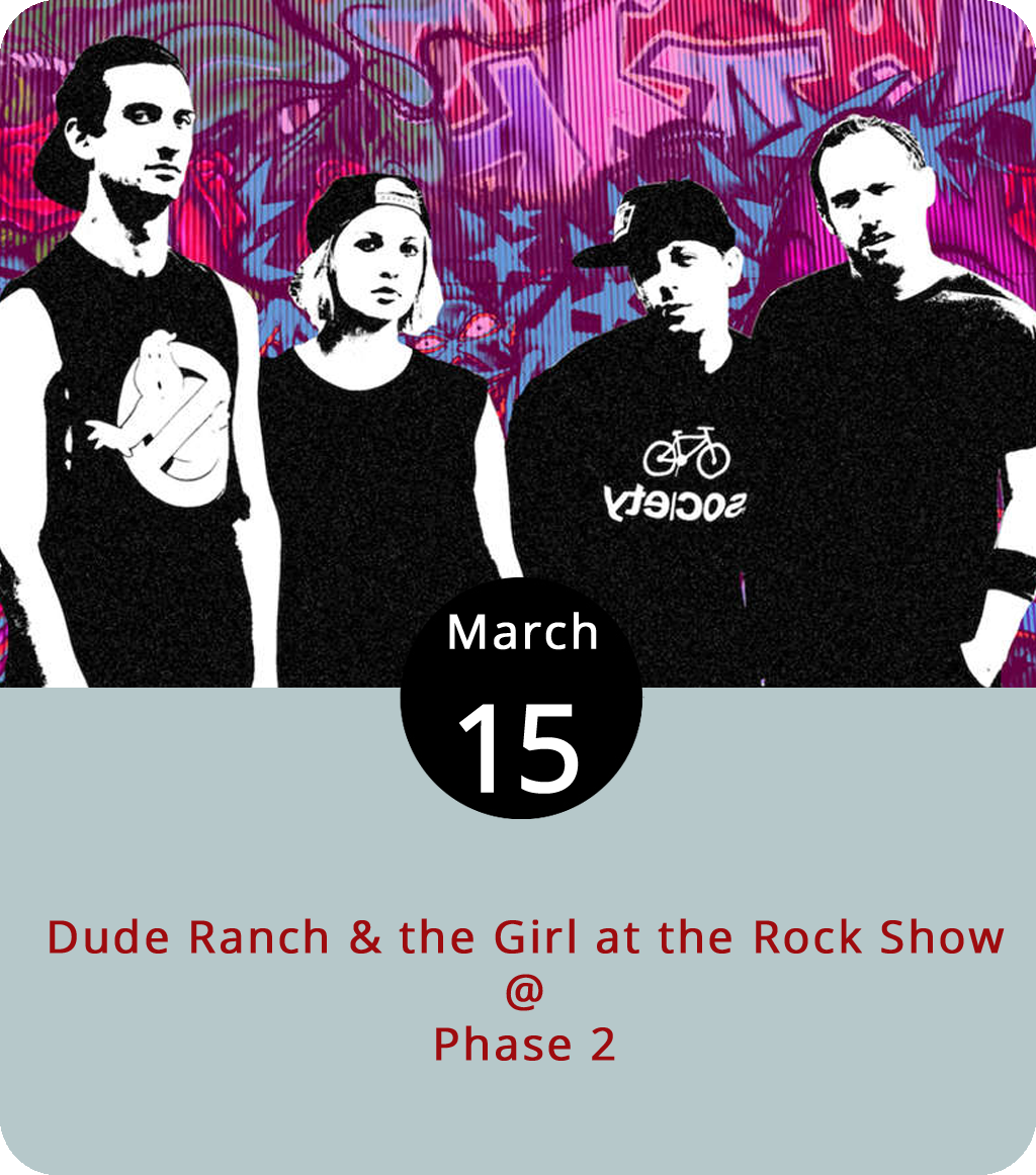 """Even the youngest among us at LynchburgDoes feels a little old writing about a Blink-182 tribute band, but the thing really does exist, so we feel compelled to tell you about it. Tonight at Phase 2 (4009 Murray Pl.), Brooklyn-based  Dude Ranch & the Girl at the Rock Show (aka four """"Blink fanatics"""") will perform the best of the Blinkster songbook. Tickets are $10. Doors open at 7 p.m. for the 8 p.m. show. For more information, click  here or call (434) 846-3206."""