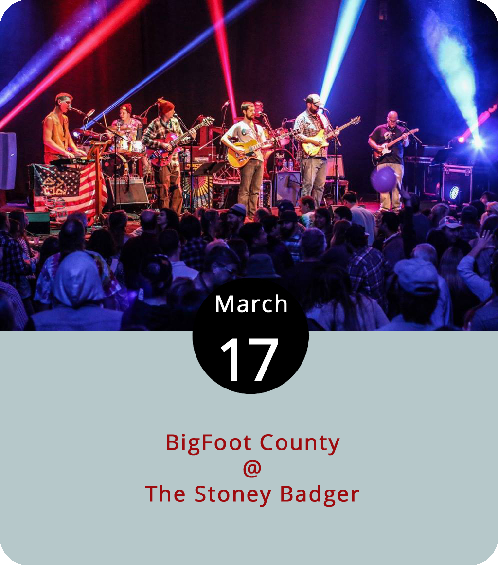 There's certain to be whiskey in the jar tonight as BigFoot County comes to the Stoney Badger (3009 Old Forest Rd.) to celebrate St. Patrick's Day. Although the Grateful Dead cover band isn't known for Irish influences, it's worth remembering that the Dead added electric groove to a number of folk songs with British Isle heritage, so we say that's close enough for the holiday. The Lynchburg-area cover band, which draws a packed house whenever they perform in the region, generally charge a $10 or $15 cover, so expect to pay at the door. For more information, click  here or call (434) 384-3004.