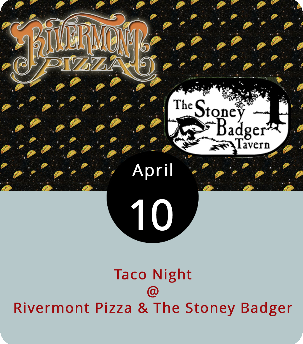 While neither restaurant professes to be the epitome of what one would expect from a venue serving tacos, both Rivermont Pizza (2496 Rivermont Ave.) and the Stoney Badger (3009 Old Forest Rd.) set aside their usual specials, pizza and wings, respectively, for Taco Tuesday. Both offer a plate of tacos for roughly the same price – $7 at RP or $8 at the Badger – but their flavors and methods differ. The Badger sticks to a choice of beef, chicken, or fish tacos. The kitchen at RP tends to be a bit more daring, often offering up shrimp, chorizo, beef, and/or pulled pork tacos. For more information contact RP at (434) 846-2877 or the Badger at (434) 384-3004.
