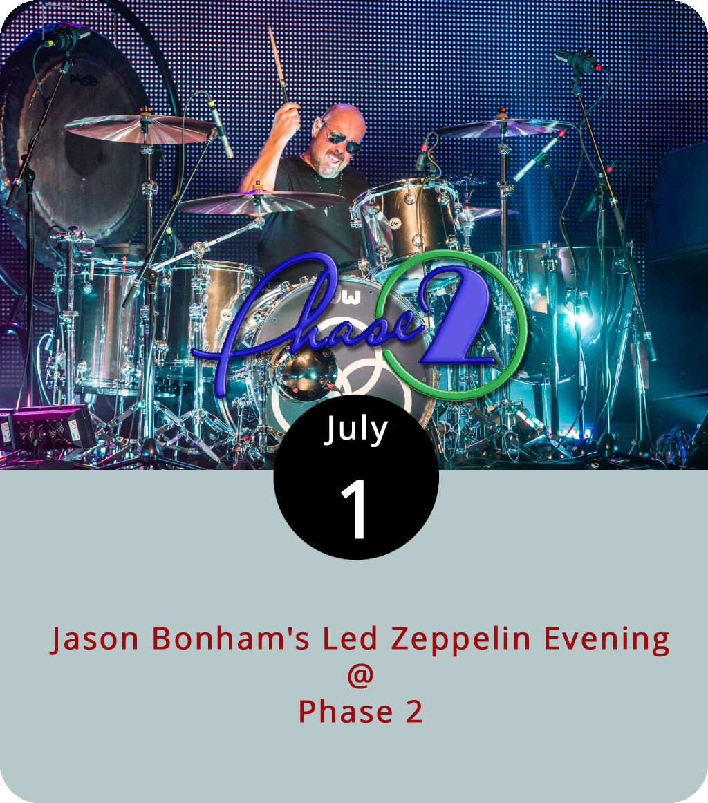 The name in front of tonight's Led Zeppelin tribute act might seem familiar, and it should. Jason Bonham is the son of legendary drummer John, whose untimely death in 1980 signaled the end of the band's reign over the hard-rock universe, which included the darkest depths of Mordor. Jason, who brings his band to Phase 2 (4009 Murray Pl.) tonight, has been performing Zeppelin's tunes since he was a kid and he filled in for his father in a 1988 reunion tour with Jimmy Page, Robert Plant, and John Paul Jones. He was back on stage with them for a one-off concert at London's O2 arena in 2007. General admission for the show is $39.50. Click  here or call (434) 846-3206.