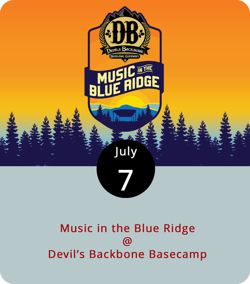 """Even before the stage went up at Devil's Backbone Basecamp (200 Mosbys Run), the Nelson County brewery beneath Three Ridges Wilderness made music part of its cultural experience. Today, the brewery hosts a sort of mini music festival with a band that bills itself as the """"ULTIMATE PARTY BAND,"""" a tribute to yacht rock, and another group that mixes jazz and swing with pop hits through the ages. The show starts at 4:30 p.m. with  The Dickens , followed by  Three Sheets to the Wind , and  The Adrian Duke Project . Tickets are $15 in advance or $20 at the door and include a beer tasting from 5-6 p.m. Kids 12 and under are free. For more information, click  here  or call (540) 602-6018."""