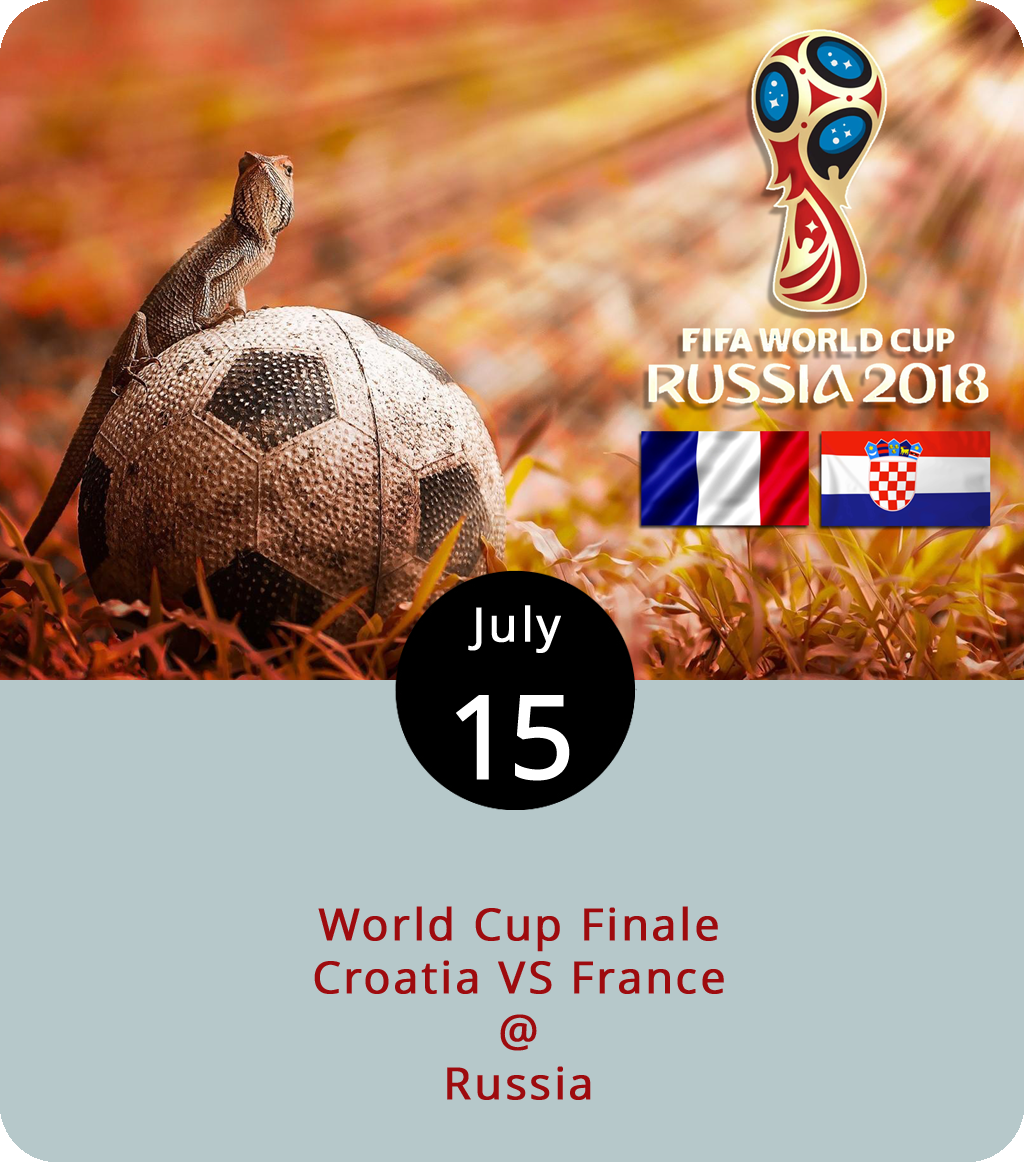 Once Germany, Brazil, and Russia were out of the picture,we were hoping for a colonial powers showdown between England and France in this year's World Cup finals. However, the prospect that the Croatian national team, which has only been a thing since 1990, could win their first ever finals match is a nice consolation.They'll have to beat the seasoned French, who have been fielding a national team since FIFA's inception in 1904, and who won the finals in 1998. The match gets underway on the pitch in Moscow at 6 p.m. Russian time, which is 11 a.m. here on the East Coast of the US. The game's being broadcast on Fox, but why watch alone? The Water Dog (1016 Jefferson St.) is hosting a viewing party, and the folks are Rivermont Pizza (2496 Rivermont Ave.) are planning to open early for the match. Oh, and if burgers for breakfast are your thing, you may want to drive out to Brauburgers (1332 Venture Dr.), where they've got wall-to-wall TVs and tasty patties. For updates on the game, click  here .