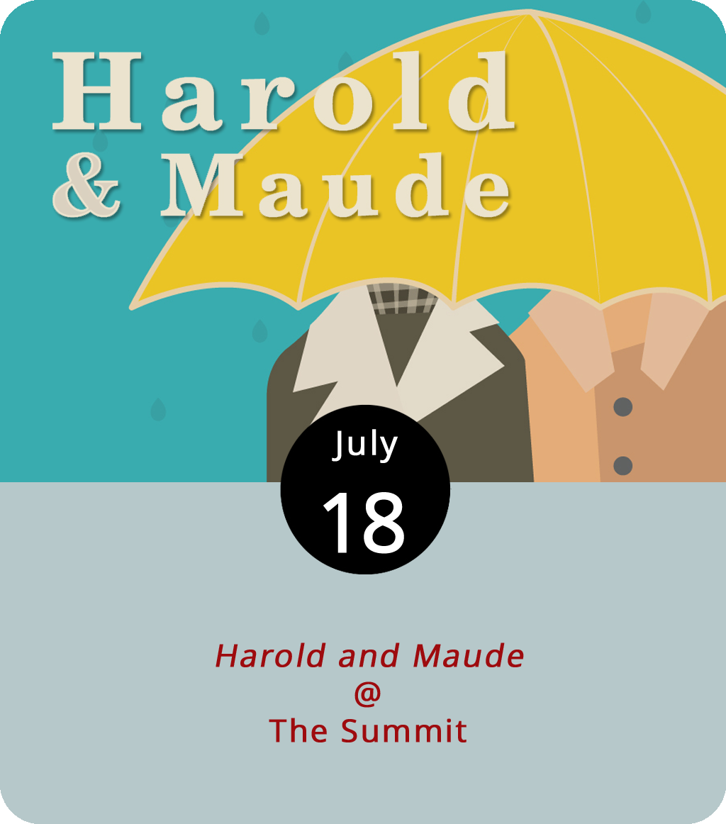 A wealthy, death-obsessed dude named Harold fakes suicide, drives a hearse, and pops into the funerals of strangers. His mom does what she can to get him help, but in the inimitable role of Harold, Bud Cort plots his own path to redemption with the help of Ruth Gordon in the role of Maude. Harold and Maude (1971) has been a bona fide cult classic almost since the moment of its release. Directed by Hal Ashby, it's this month's philosophical feature in the Lynchburg Underground Movie Club Series, hosted by Ken Faraoni, a bronze artist and movie buff. It also happens to be Faraoni's favorite film. Admission is $7 or $6 for anyone wearing an LUMC T-shirt. The event is from 7-10:30 p.m., and the show starts at 7:30 p.m. For more info, click  here or call (434) 847-7277.