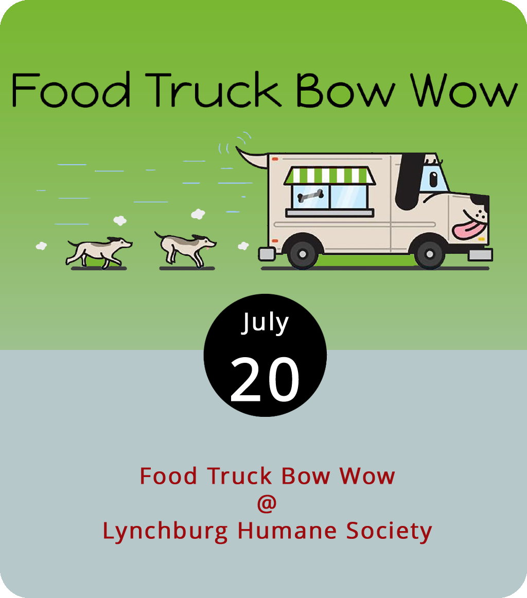 Friday afternoon tends to go to the dogs anyway, so go ahead and do lunch with some actual puppies at the Lynchburg Humane Society (1211 Graves Mill Rd.). Along with adoptable pets, today's Food Truck Bow Wow will feature lunchables from Calle Cruz Miami, Action Gyro, Nomad Coffee Co., Hibachi Guys, and Chill City Pops. Dining gets underway at 11 a.m. and runs until 2 p.m. For more info, click  here or call (434) 448-0088.