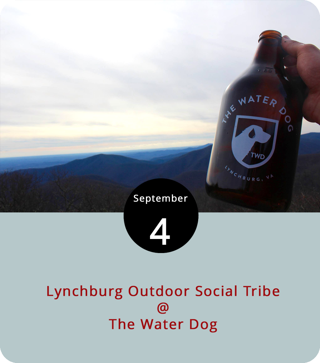 Who are the members of the Lynchburg Outdoor Social Tribe? Pretty much anybody who enjoys hiking, biking, climbing, rafting, backpacking, or just kinda moving around in the great outdoors may consider themselves a member of the tribe, particularly if they're into socializing, community service, and supporting local charities. Sounds like a nice bunch of folks. The LOST will convene as they do on the first Tuesday of each month at the Water Dog (1016 Jefferson St.) at 6 p.m. for a few drinks, including some specialty brews from North Carolina's Oskar Blues Brewery. By way of convergence, the weekly Pints after Pedals, a group ride that starts at Bikes Unlimited (1312 Jefferson St.) at 6 p.m. and ends up at the Water Dog meets this evening as well. Check out the Water Dog menu  here , or call them at (434) 333-4681. Click  here for more info on LOST, and  here  for more info on Pints After Pedals.