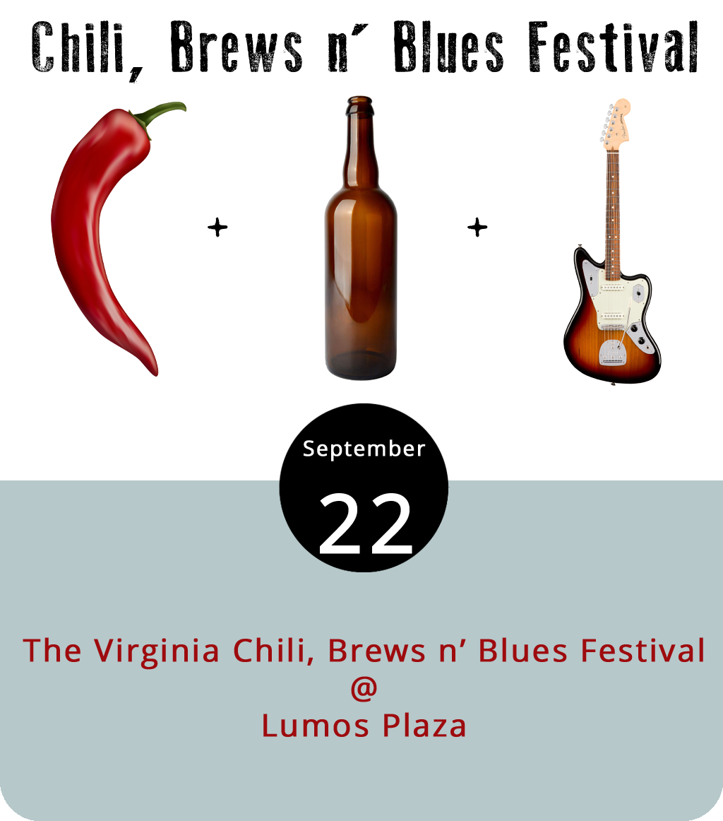 Waynesboro will be the site of what promises to be a fairly massive chili cook-off that's also going to feature plenty of blues music and beer-type brews this afternoon from 2:30 to 9 p.m. The event is being held outdoors on Lumos Plaza in the heart of Waynesboro's downtown, between Wayne and Arch Avenues. Performers include: Kiz Carter and Juke Jackson, the Bone Baby Gators featuring Crystal Armentrout, Sun Dried Opossum, and Anthony Rosano and the Conqueroos. In addition to the chili, there will be food from Holy Smokes BBQ, Bobbi's Pulled Chicken, the Lovin' Crab, and more. General admission tickets are $15 in advance/$20 at the gate. There may also be some VIP tickets available. Click  here  for tickets and more info.