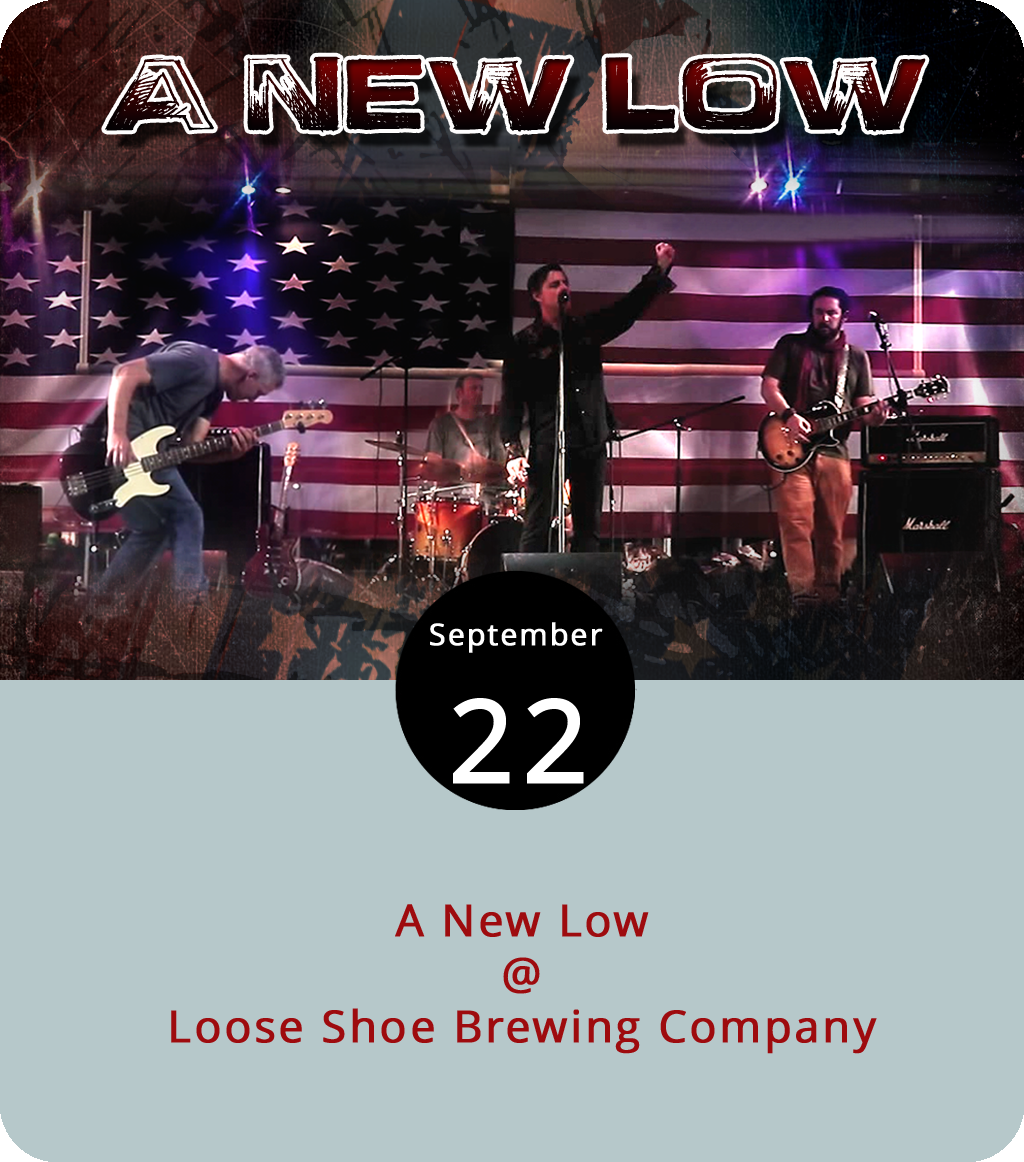 They say that self-promotion is the sincerest form of self-flattery, or something like that. We're taking that to heart this evening by strongly recommending that you come out to Amherst's Loose Shoe Brewing Company (198 Ambriar Plaza), a nice little family run taproom with a big outdoor deck, which will be the site of a performance this evening by the local band A New Low. Two of the band members – bassist/guitarist Matt Ashare and guitarist Jay Oliveira – are fairly intimately associated with LynchburgDoes.com. So, while we're not going to sing the band's praises, we are gonna come right out and say that it's going to be a good time. The music runs from 6:30 to 9:30 p.m. and there's no charge at the door. Click  here  for more info or call (434) 946-BEER.