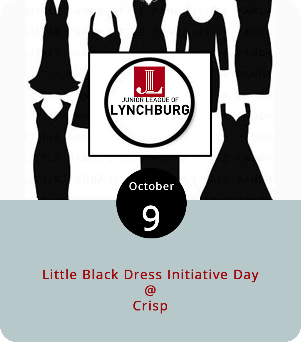 For those inclined to follow the Junior League's Little Black Dress Initiative around town this week, last night's steak dinner can be followed by a lighter salad or wrap for lunch or dinner today at Crisp (1124 Church St.). The fine salad-wrapping, juice-mixing, bread-baking folks at Crisp will be donating 10% of the proceeds on orders by those who mention the Little Black Dress Initiative today from 10:30 a.m. until closing at 9 p.m. Crisp also does some pretty awesome smoothies and smoothie bowls until 3 p.m. Click  here  to see a menu, and  here  to find out more about the Little Black Dress Initiative. You can reach Crisp at (434) 386-8998.