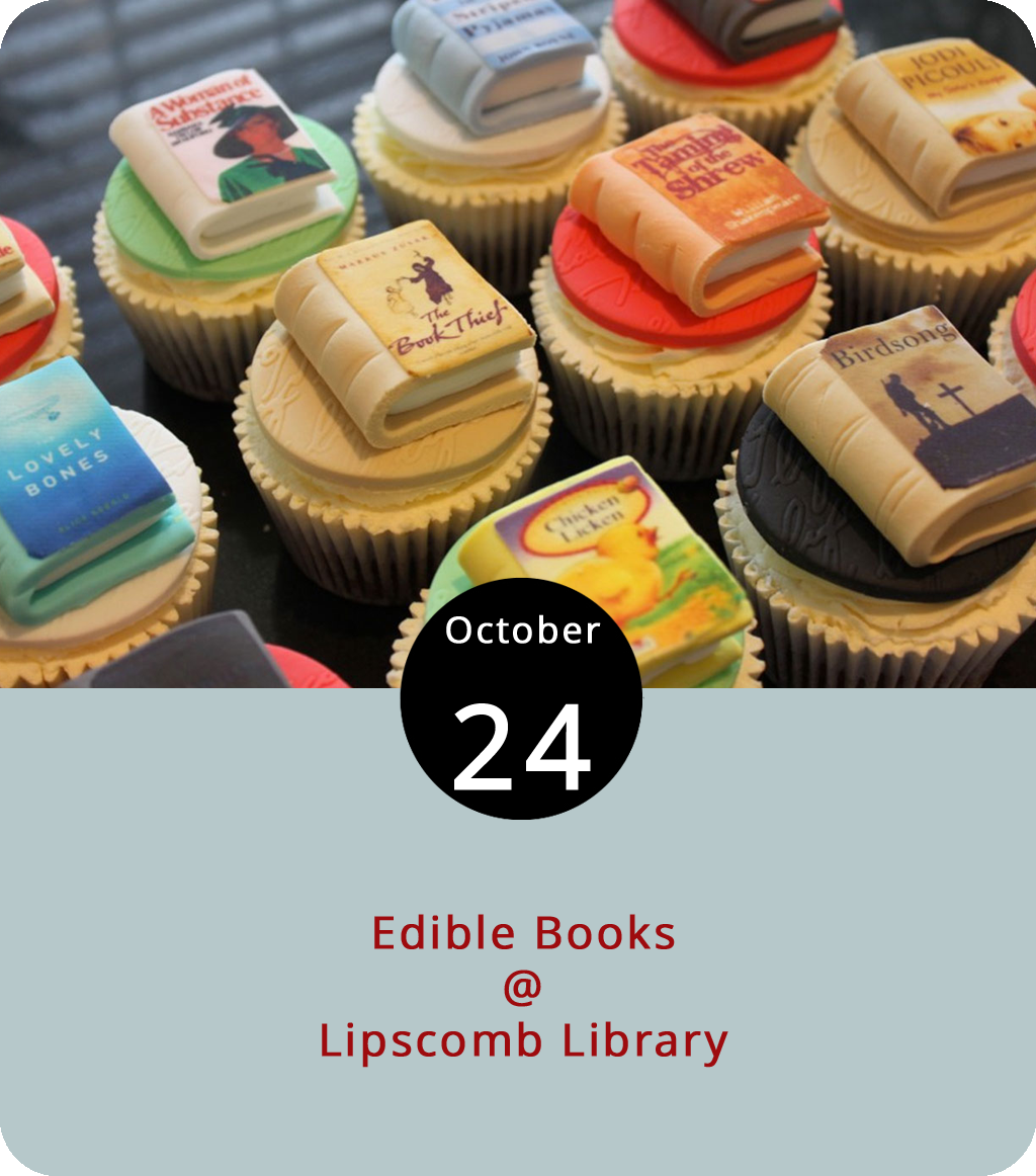 As anyone who's ever spent a significant amount of qualify time with a toddler knows, all books are edible. That said, we're intrigued with what the folks at Randolph College's Lipscomb Library (2500 Rivermont Ave.) have cooked up for today. It's an edible books contest and it involves a rather creative approach to the healthy consumption of literature. Member of the Lynchburg community are invited to dream up a culinary creation that has something to do with a book. It doesn't have to look like a book, but it does have to be homemade, capable of surviving without spoiling for eight hours, and inspired by a book. You can view the entry form and contact the library by clicking  here . All entries are due by 10:30 a.m., after which they will be on display from 11 a.m. until 2 p.m. Winners will be announced at 2:30 p.m., and then the eating will commence.