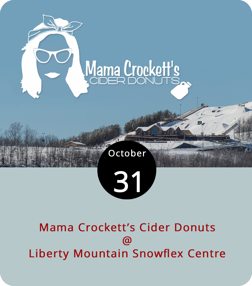 It's a tube-or-treat kinda day at Liberty Mountain Snowflex Centre (4000 Candlers Mountain Rd.), where the weather usually calls for some form of man-made frozen precipitation, and the activities generally include skiing, snowboarding, and tubing. Today, as a special Halloween treat, Mama Crockett's Cider Donuts will be on the mountain slinging a very particular kind of tubular treat from 3 p.m. until 1 a.m. Combo passes to the Snowflex are $25, or you can go for the hourly rate, which is $11 for tubing and $6 for skiing and snowboarding. However, if you show up in costume today, your first hour of fun is free. Dressing as a skier, snowboarder, or tuber doesn't count. For more info, click  here  or call (434) 582-3539.