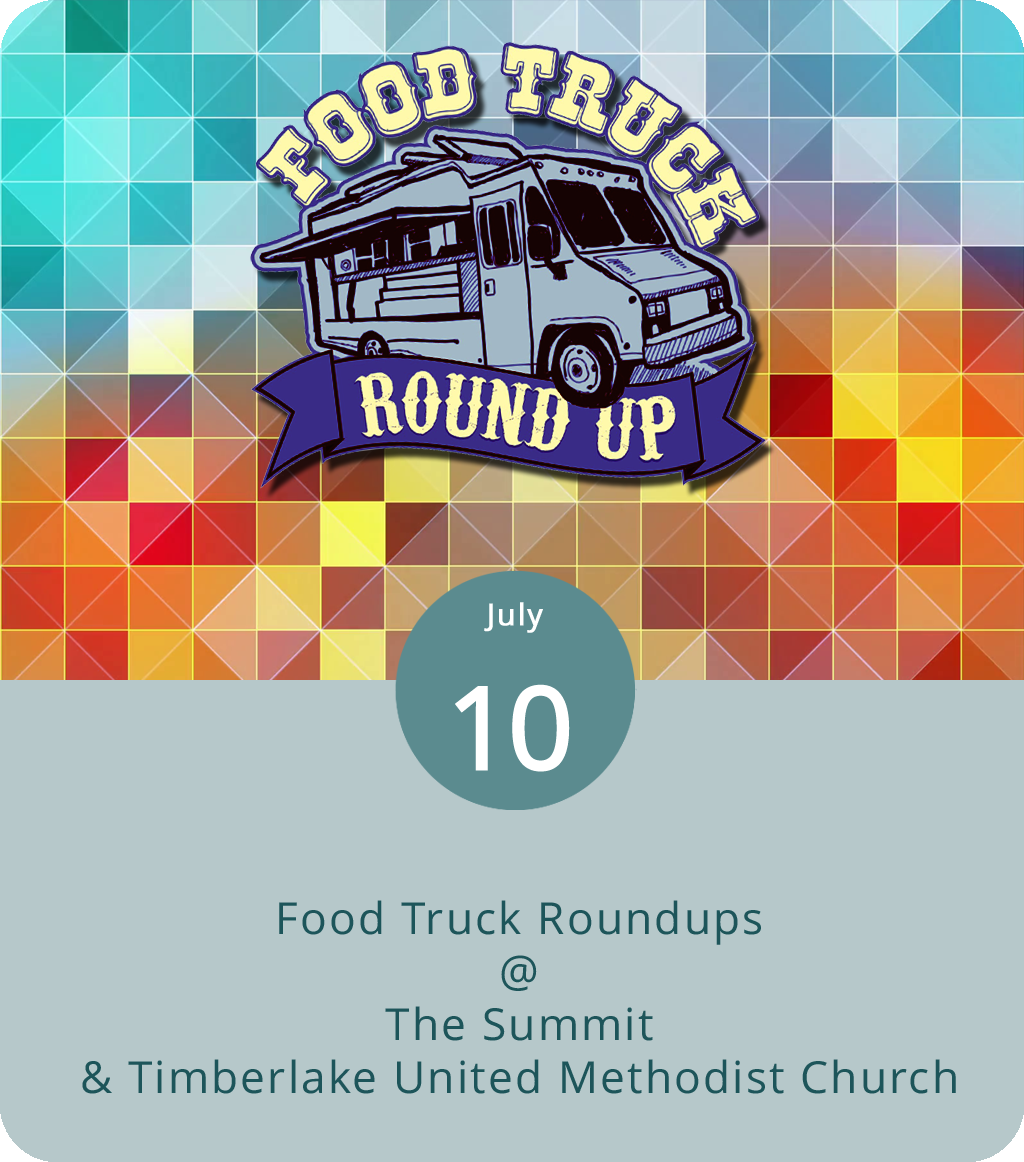 We've got breakfast, lunch, and/or dinner covered for you today. The monthly Wyndhurst Wednesday food trucks roundup runs from 11 a.m.-2 p.m. on the grounds of the Summit (1400 Enterprise Dr.) and features a variety of mobile food and beverage vendors, including Mama Crockett's Cider Donuts, which will be setting up at 10 a.m. for the late-breakfast crowd. For details on the rest of the line-up, click  here  or call (434) 582-1500. Later in the day, you'll find another roundup of food trucks convening at Timberlake United Methodist Church (21649 Timberlake Rd.) for a casual dinner party from 5-8 p.m. Brother Jake's Brick Oven Creations, Kona Ice, Uprooted, the Taco Wagon, Calle Cruz Miami, Homestead Creamery, Hibachi Guys, Nomad Coffee, and Dem Bunz are all the list for the Timberlake event. Click  here  for more info or call (434) 239-1348.
