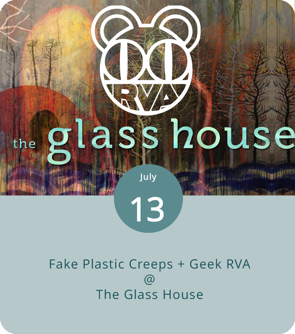 It's going to sound and feel a little like 1995 at the Glass House (1019 Jefferson St.) as two of Virginia's top-notch alt-rock tribute bands take the stage. Fake Plastic Creeps are a five-piece who specialize in early Radiohead, which means  Pablo Honey ,  The Bends , and maybe a little  OK Computer , but not much  King of Limbs . And Geek RVA hone in on the best of Smashing Pumpkins, which might include a few songs from  Gish , a good part of  Siamese Dream , and certainly some  Mellon Collie and the Infinite Sadness . Doors are at 7 p.m. and tickets are $12. Click  here  for info or call (434) 544-1176.