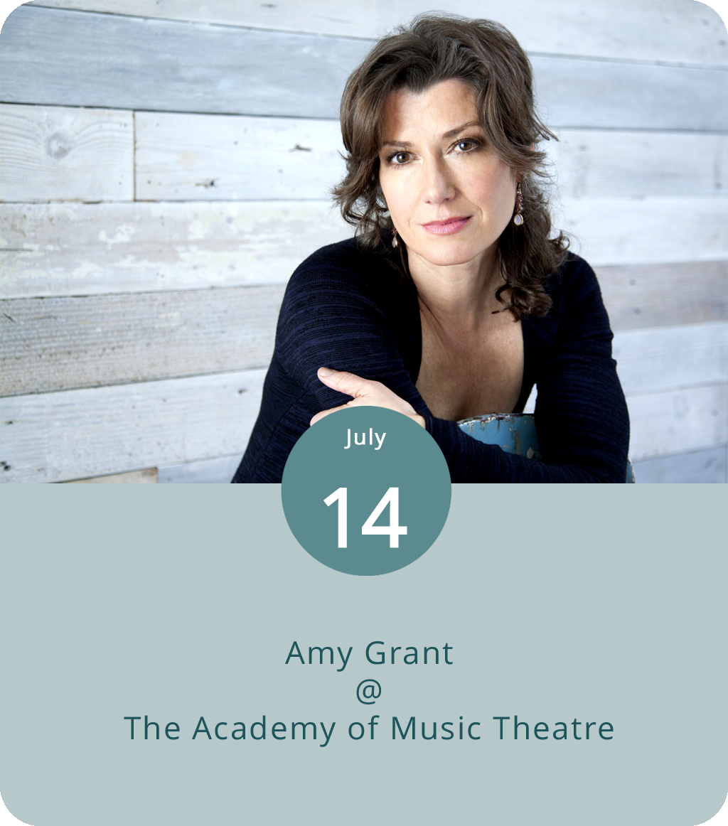 """Crowned the de-facto Queen of Christian Pop in the mid-'80s, Amy Grant became a major crossover star in the early-'90s with top ten  Billboard  hits and a bunch of Grammy awards and nominations. Now in her fourth decade as a performing artist, Grant has returned to her roots in gospel and country music. Her latest album was the 2016 holiday collection  Tennessee Christmas , and she put out a single (""""Say it With a Kiss"""") in early 2017. She's currently doing a handful of live dates, including a performance tonight at the Academy of Music Theatre (600 Main St.). Doors are at 6:30 p.m. and tickets from $35-$80. Click  here  for more info or call (434) 846-8499."""
