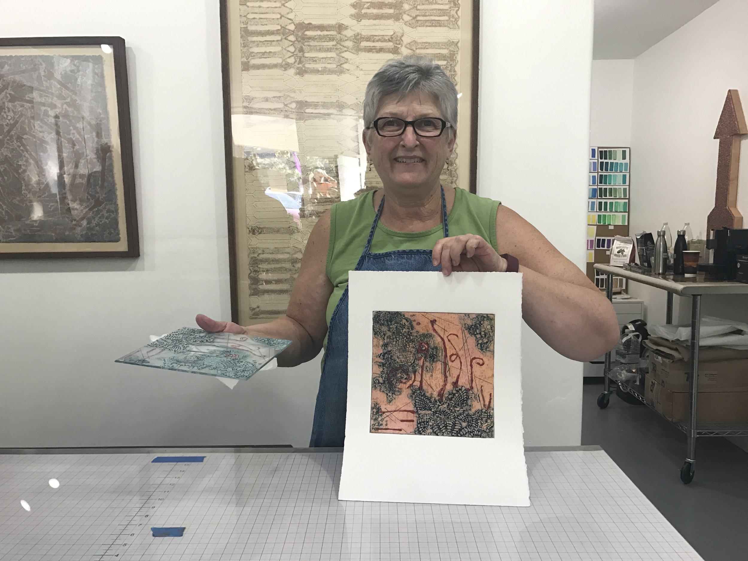 Deborah with her print.