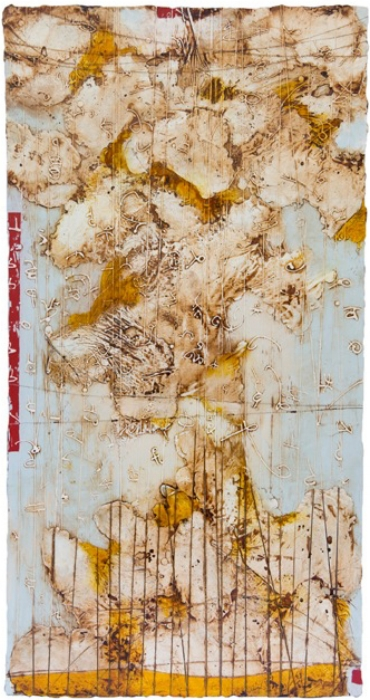 Remnant 1, 2010  encaustic and oil on panel 38 x 20 inches  Private Collection Portland