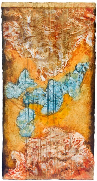 Remnant II, 2010  encaustic and oil on panel 38 x 18 inches  Private Collection, Seattle