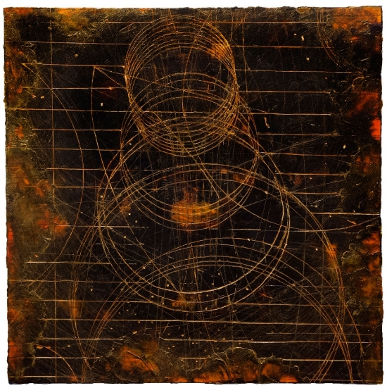 Atom Transit 1. ,  2013 encaustic and oil on panel 32 x 32 inches. Available at  Gremillion & Co. Fine Art, Houston