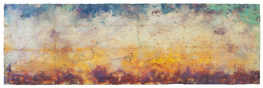 Intervals , encaustic and oil on panel 24 x 70 inches.  Private collection, Seattle.