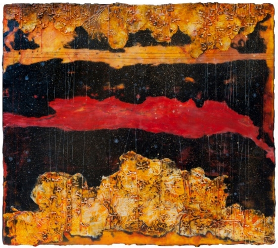 Flare Horizons, 2011 encaustic and oil on panel 24 x 26 inches Private Collection, Seattle