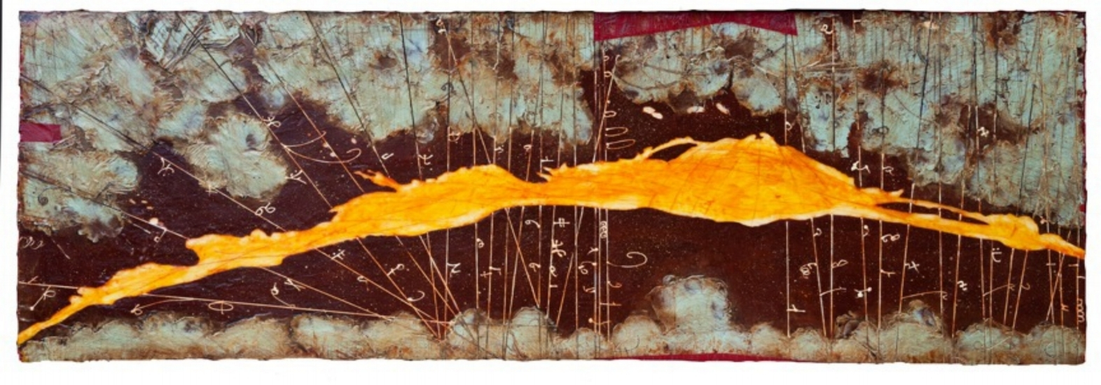 Absolute Horizon I, 2011  encaustic and oil on panel 24 x 70 inches  Private Collection
