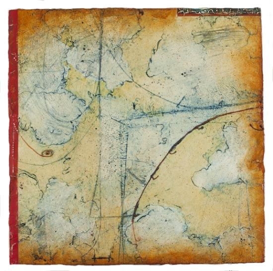 Territory Chart I , encaustic and oil on panel 30 x 30 inches.  Private Collection, Portland, OR..