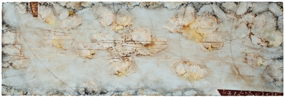 Remnant Horizon II, 2012  encaustic and oil on panel 24 x 70 inches  Private Collection, Portland