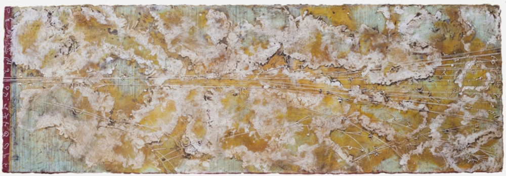 Apex II, 2012  encaustic and oil on panel 24 x 70 inches  Private Collection