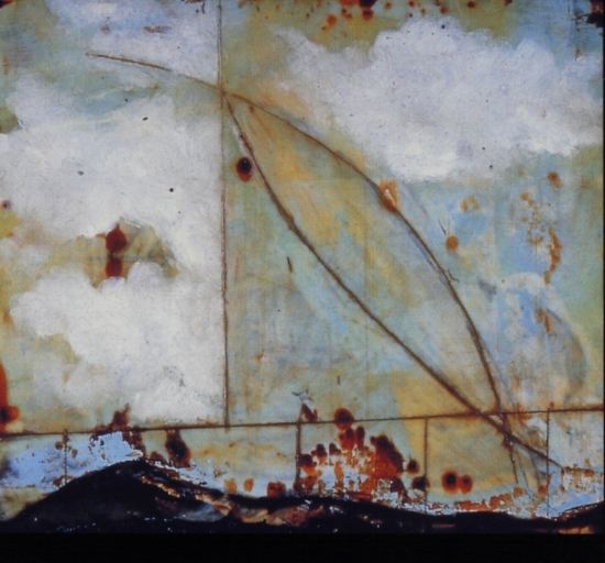 Degenerate Era , 1997 encaustic and oil on panel 8 x 8 inches  Private Collection, Portland
