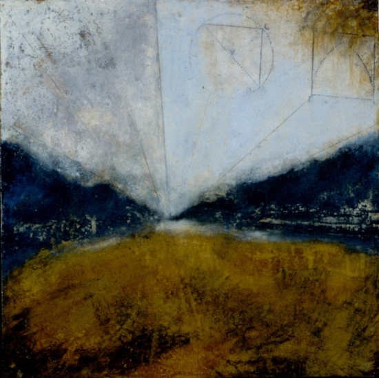 Infinityscape, 2000  oil on panel 16 x 16 inches  Private Collection Sweden