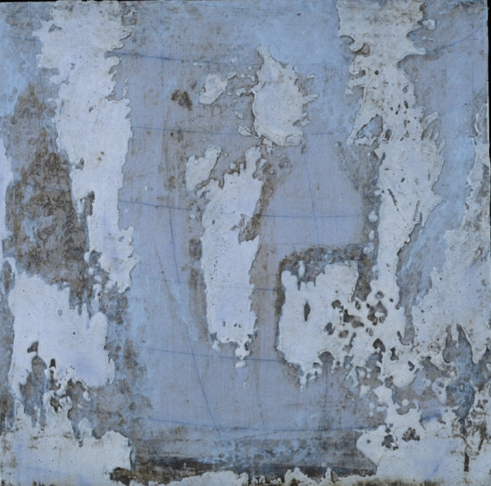 Earth Study 1, 2001 encaustic and oil on panel 18 x 18 inches  Private Collection, Milwaukie, WI