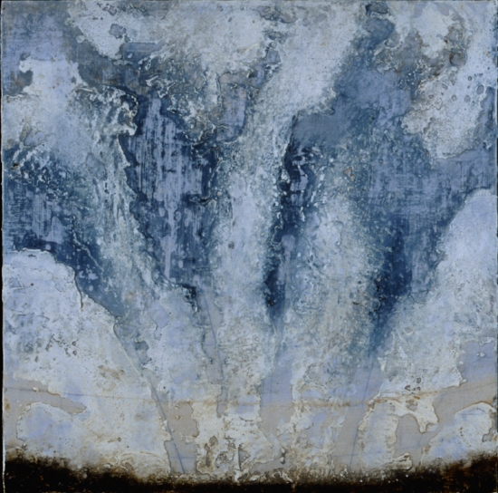 Earth Study 2, 2001  encaustic and oil on panel 18 x 18 inches  Private Collection, Milwaukie, WI