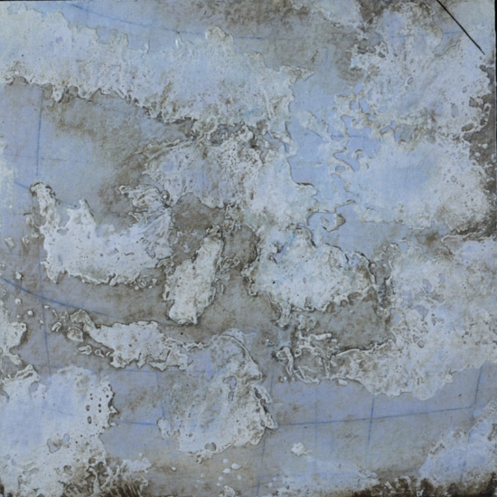 Earth Study 3, 2001  encaustic and oil on panel 18 x 18 inches  Private Collection Milwaukie, WI