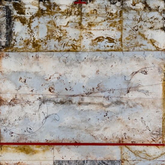 Entropic Horizons, 2006  encaustic and oil on panel 28 x 28 inches  Private Collection, Portland