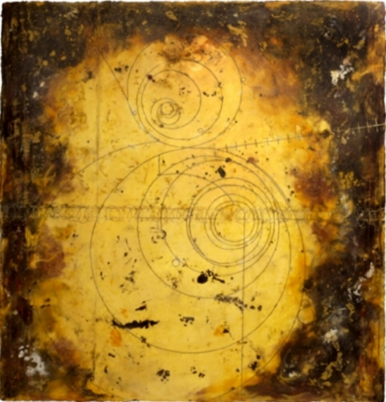 Counter Collision I, 2008  encaustic and oil on panel 48 x 48 inches  Private Collection, Portland
