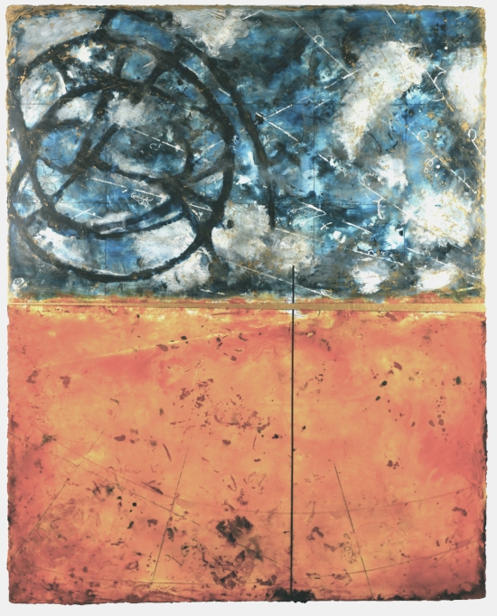 Particle Sphere 2008 , encaustic and oil on panel 60 x 48 inches  Private Collection, Portland
