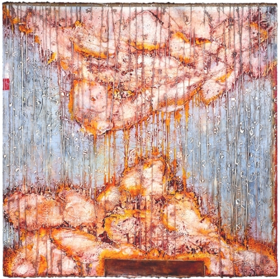 Cloud Burst, 2009 encaustic and oil on panel  Private Collection, Topanga Canyon, CA