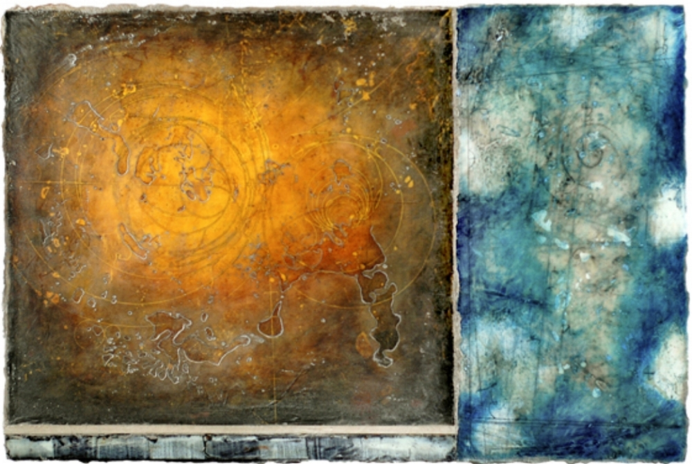 Event Horizon I, 2009 encaustic and oil on panel  Private Collection, Boston
