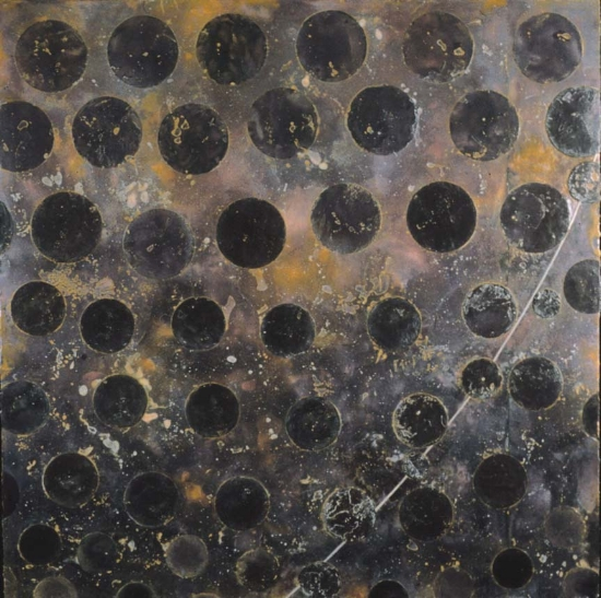 Memory Universe, 2003  encaustic and oil on panel 51 x 51 inches  Private Collection, Portland